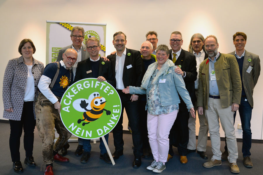 The representatives of the alliance at their first press conference at the Biofach 2018