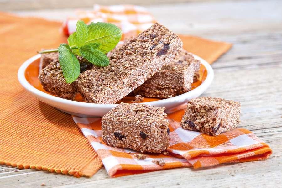 Amaranth-Riegel mit Kakao