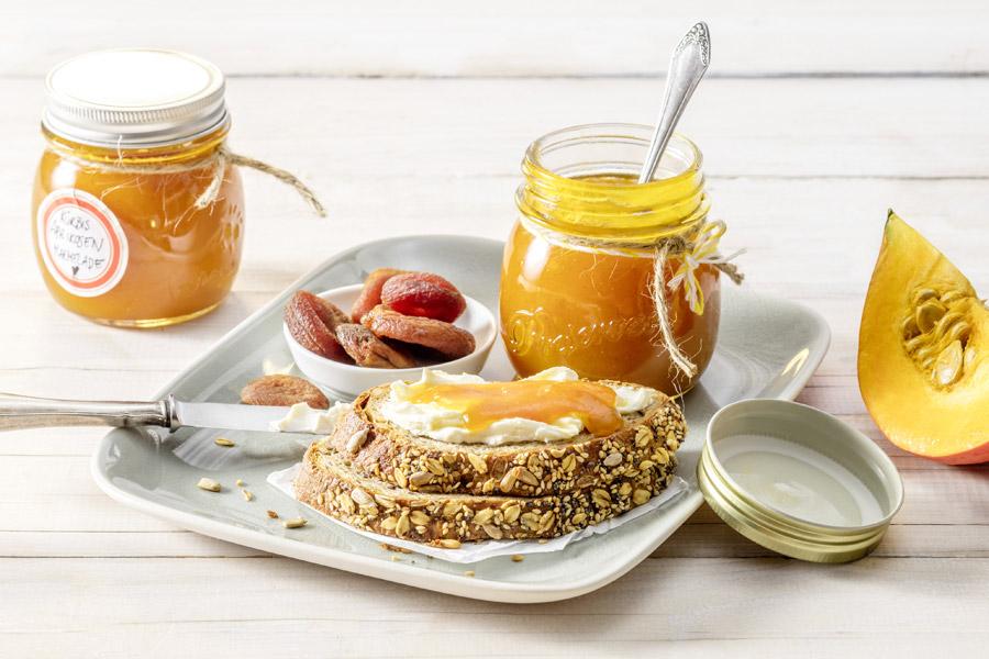 Aprikosen-Kürbis-Marmelade