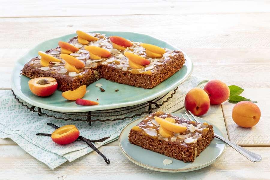 Aprikosen-Mandelkuchen ohne Gluten-Mehle