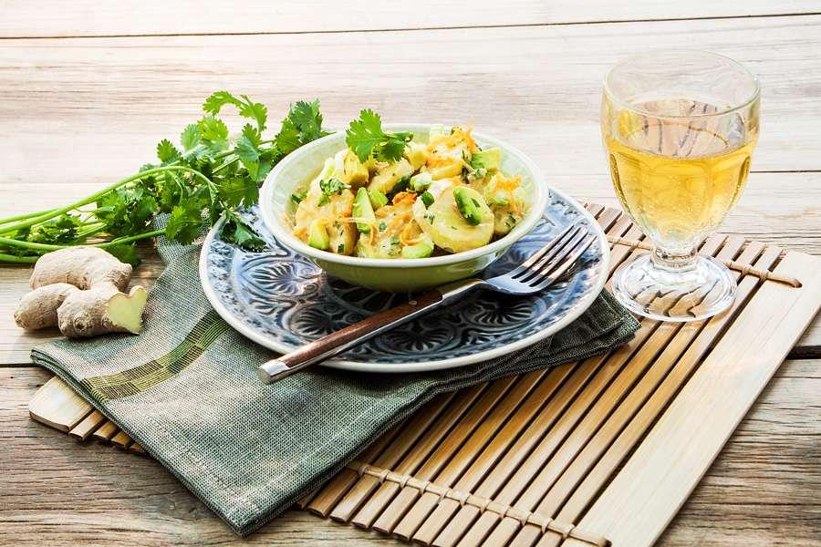 Kartoffelsalat, asiatisch