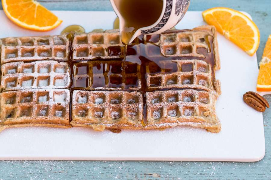 Buttermilk waffles with ayurvedic oats