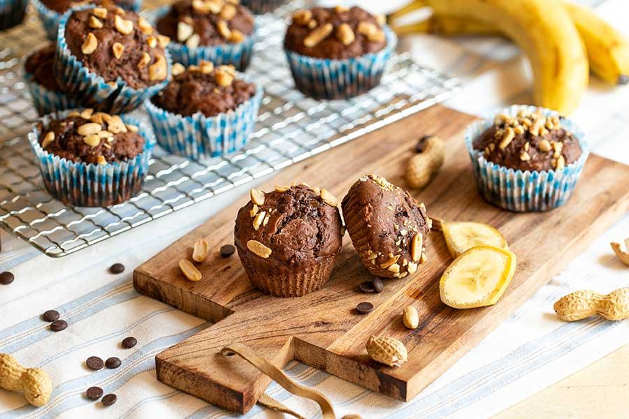 Bananen-Erdnuss-Muffins