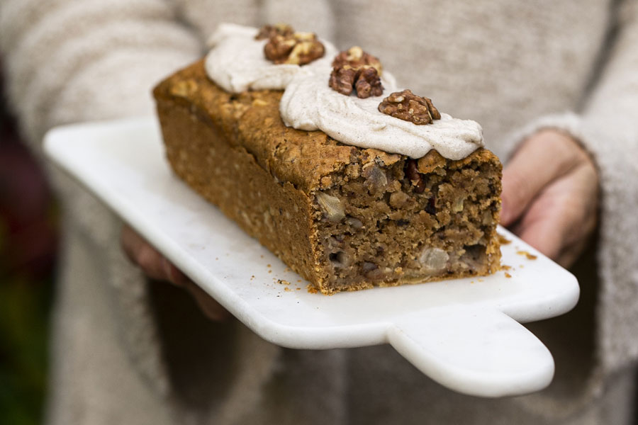 Spiced Pear walnut cake