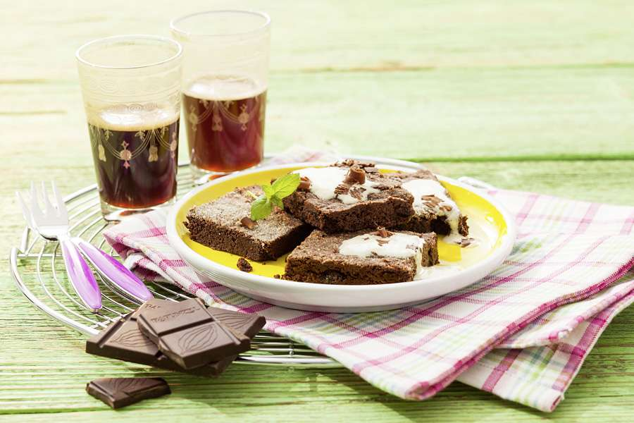 Brownies mit Kakao-Creme
