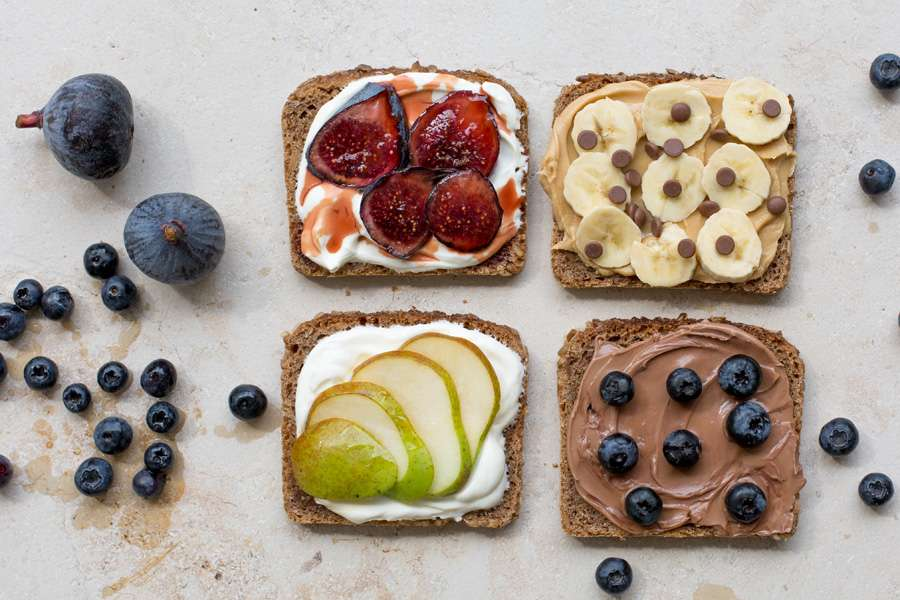 Colorful Breakfast Toast