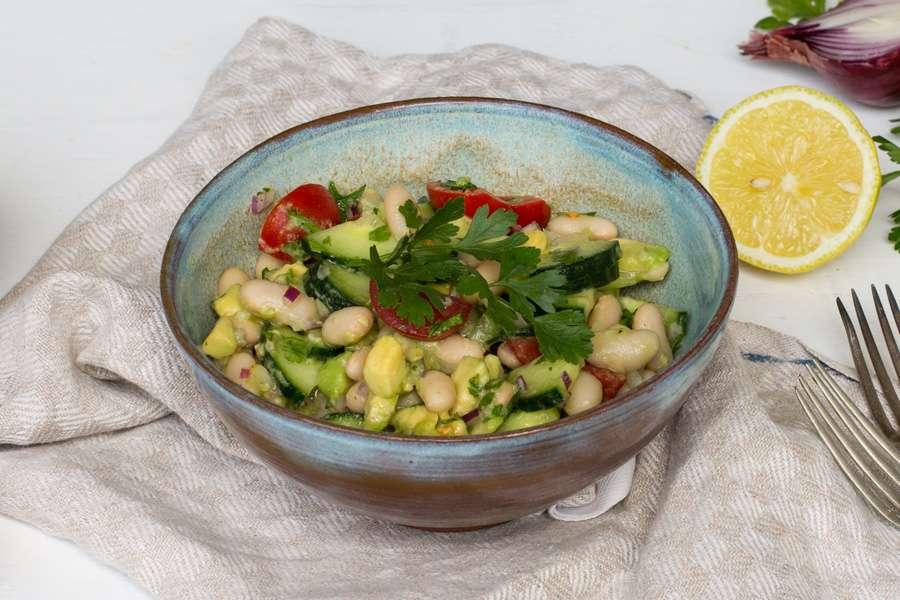 Mediterraner Weiße Bohnen Salat