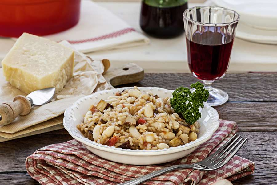 Carnaroli Risotto mit weißen Bohnen
