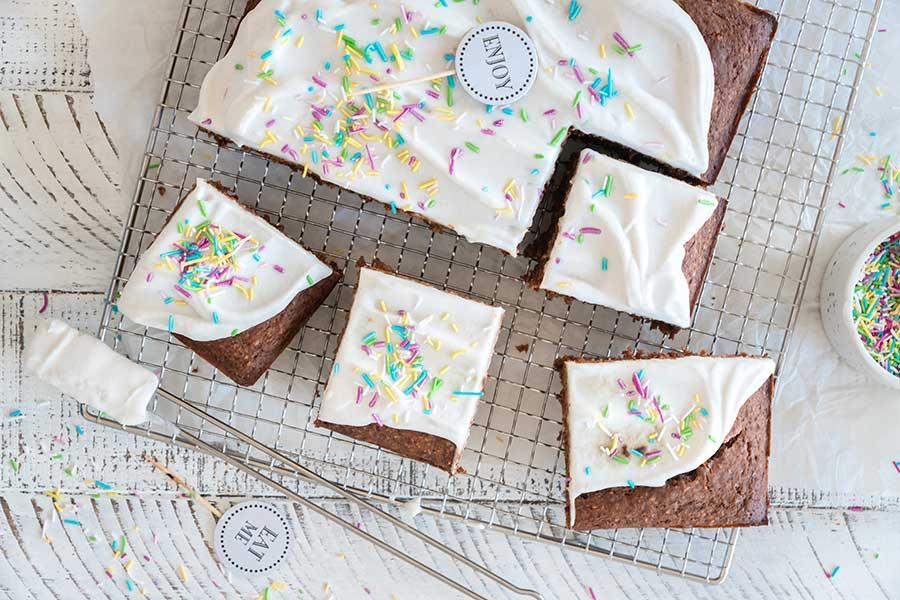 Dattelkuchen vom Blech