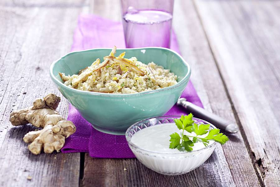 Dattel-Couscous mit Cashewkernen