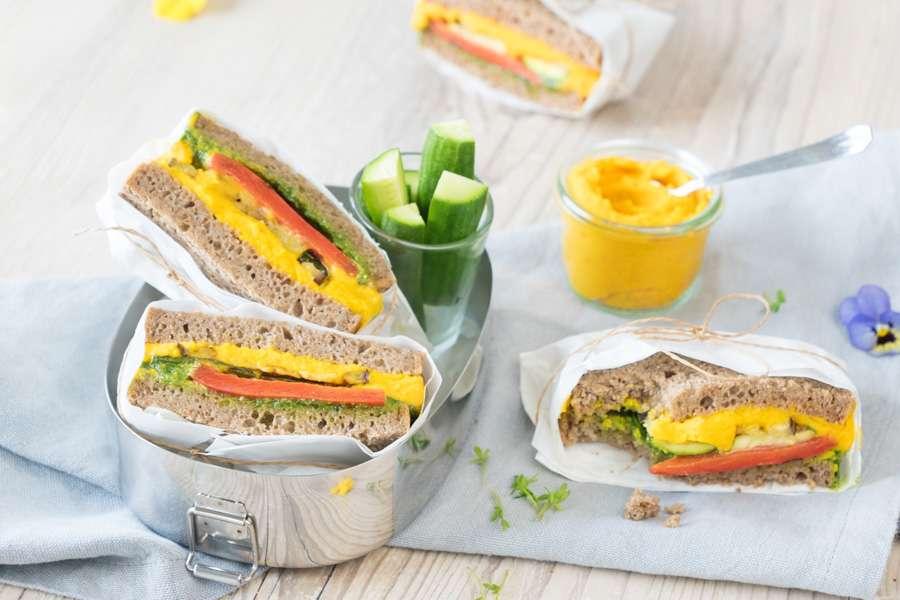 Fitness-Sandwich mit Grillgemüse
