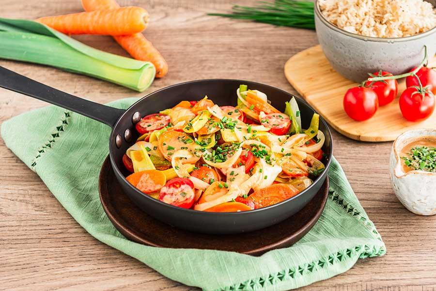 Gemüse mit Mandelsauce