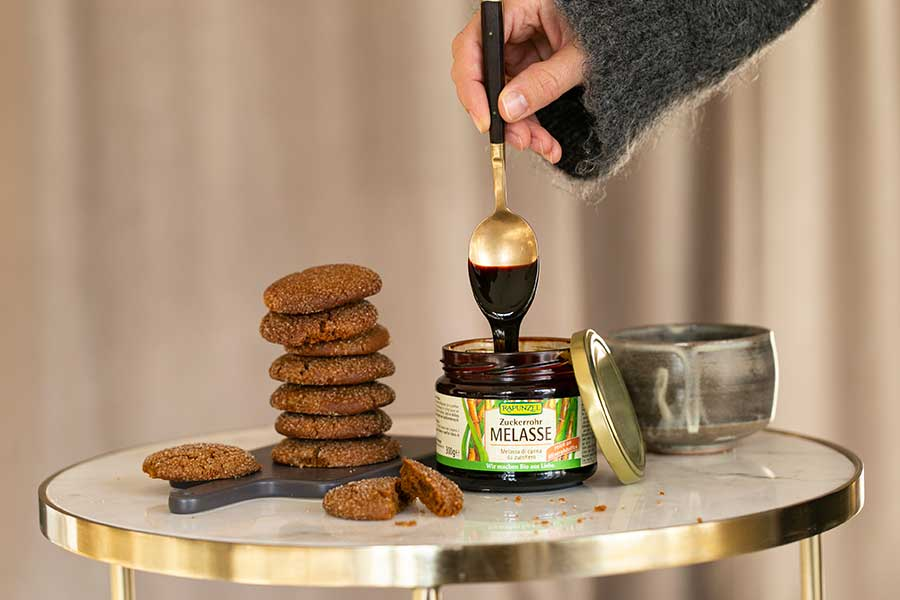 Ginger Cookies with Cane Sugar Molasses