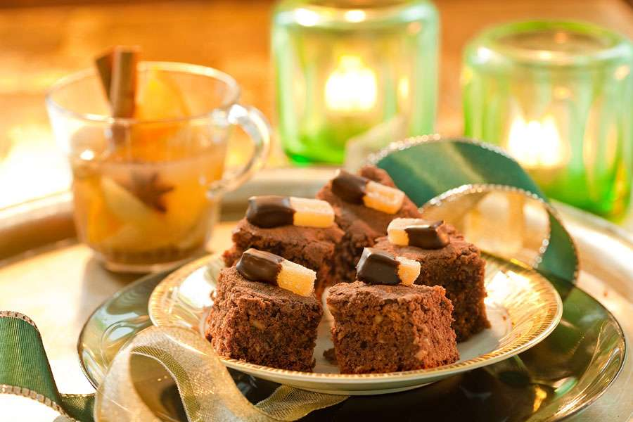 Ingwer-Schoko-Brownies