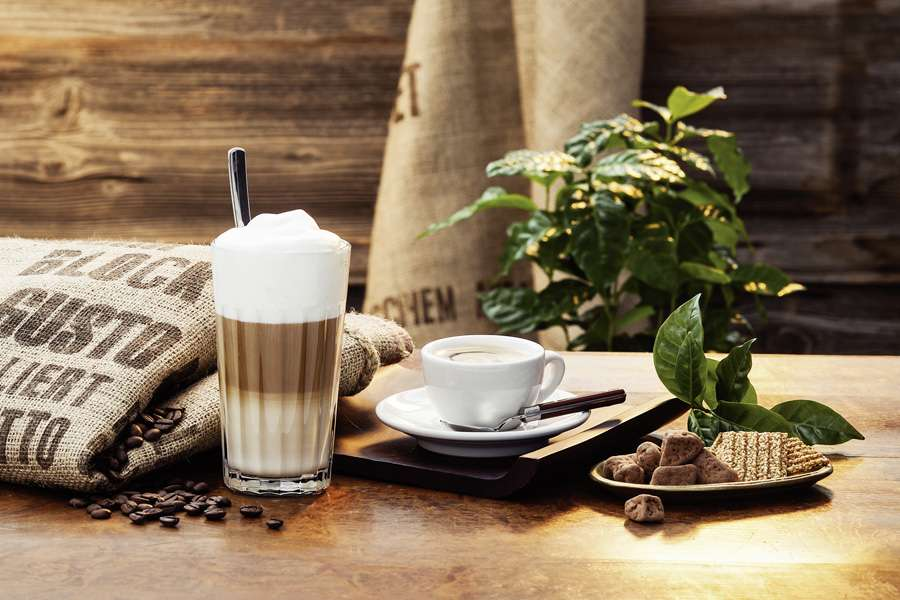 Latte Macchiato - Classico, Zimt oder Caramell