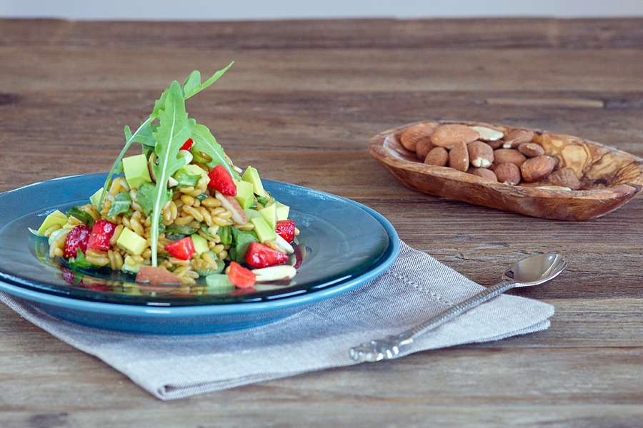 Kamut-Salat mit Avocado und Rauke