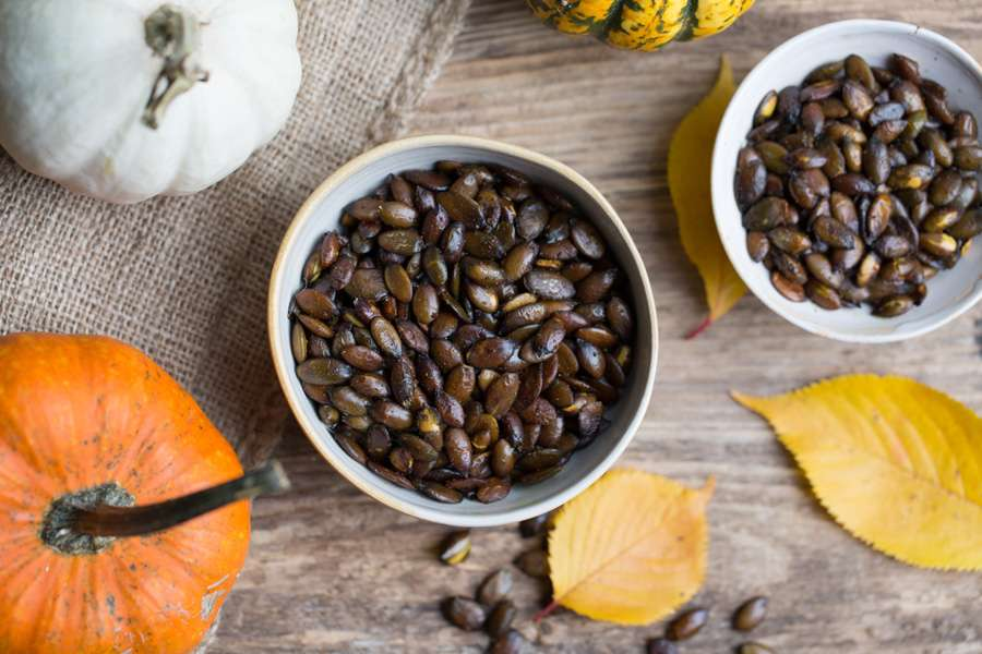 Roasted Indian spiced pumpkin seeds