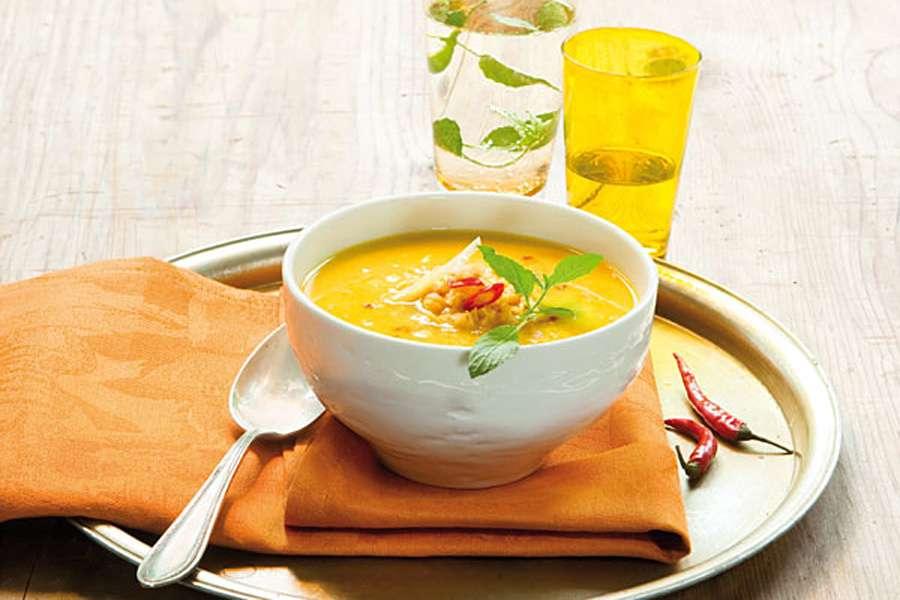 Linsen-Ingwer-Suppe