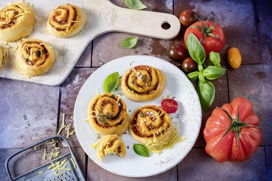 Lupinen-Pizzaschnecken