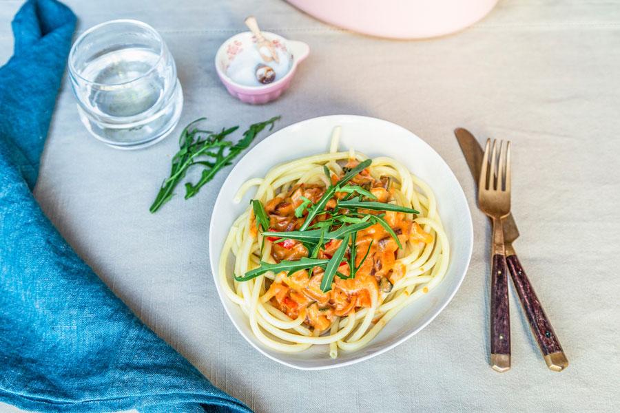 Tomate-Paprika Makkaroni