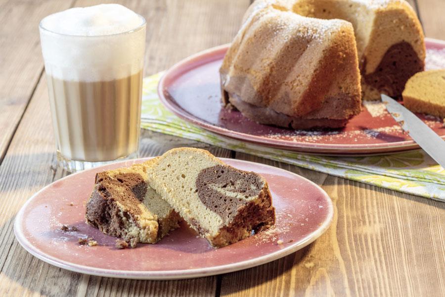 Marmorkuchen mit Mandelmehl
