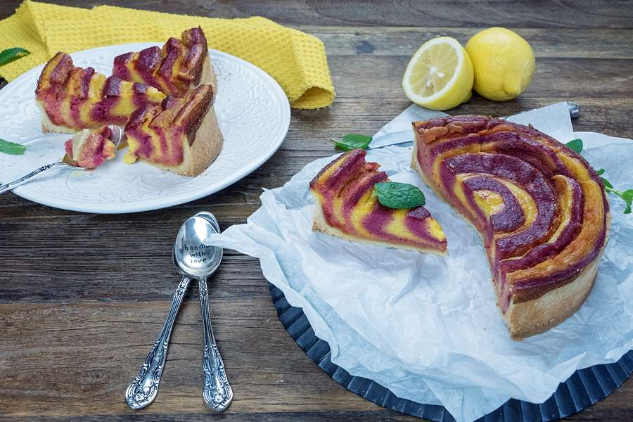 Mango-Rote Bete-Zebra-Cheesecake