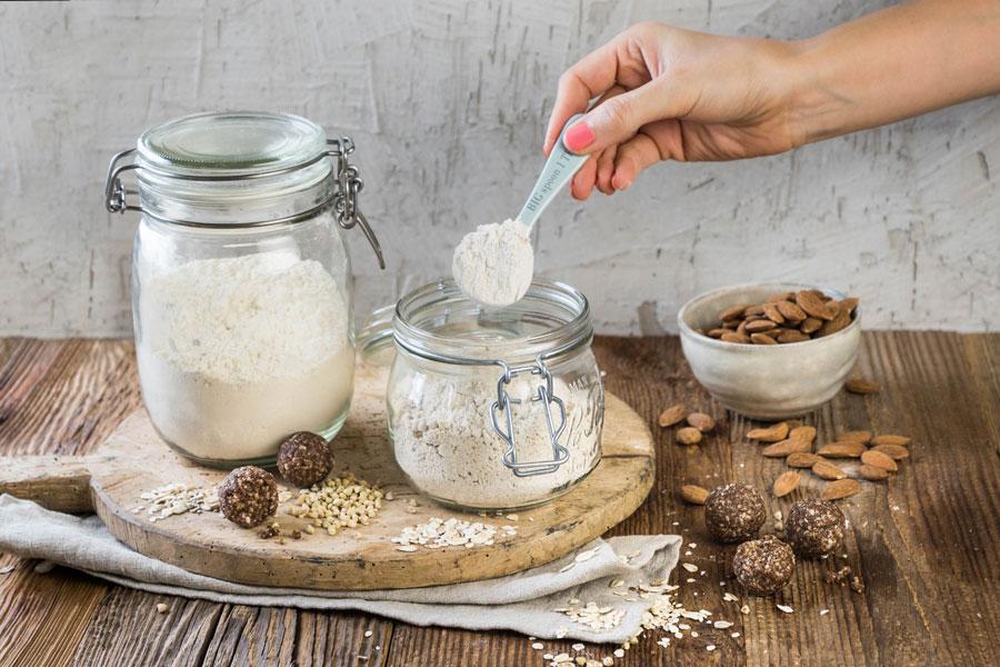 Glutenfreie und vegane Mehlmischung für Rührteig und Pancakes