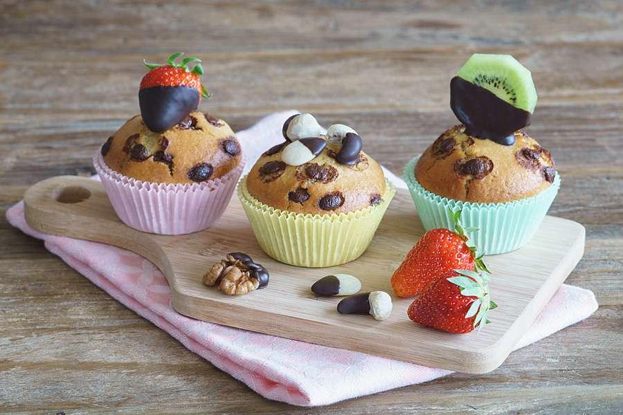 Fruchtige Straciatella-Muffins