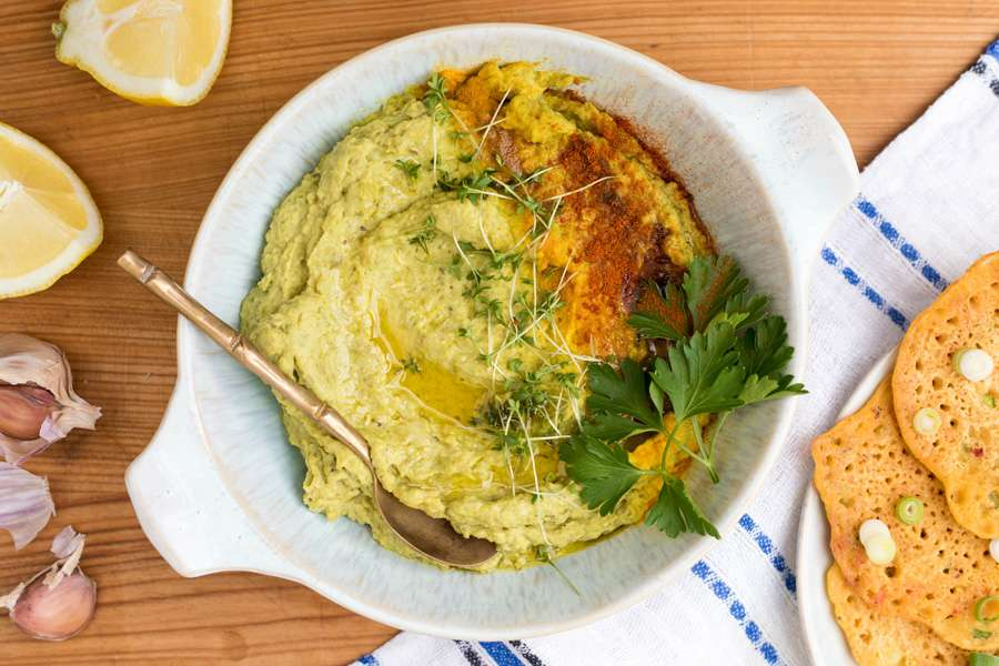 Mungbohnen Hummus