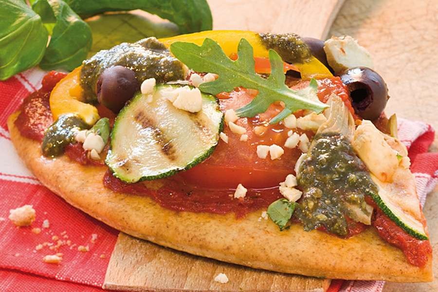 Veggie Pizza mit Pesto