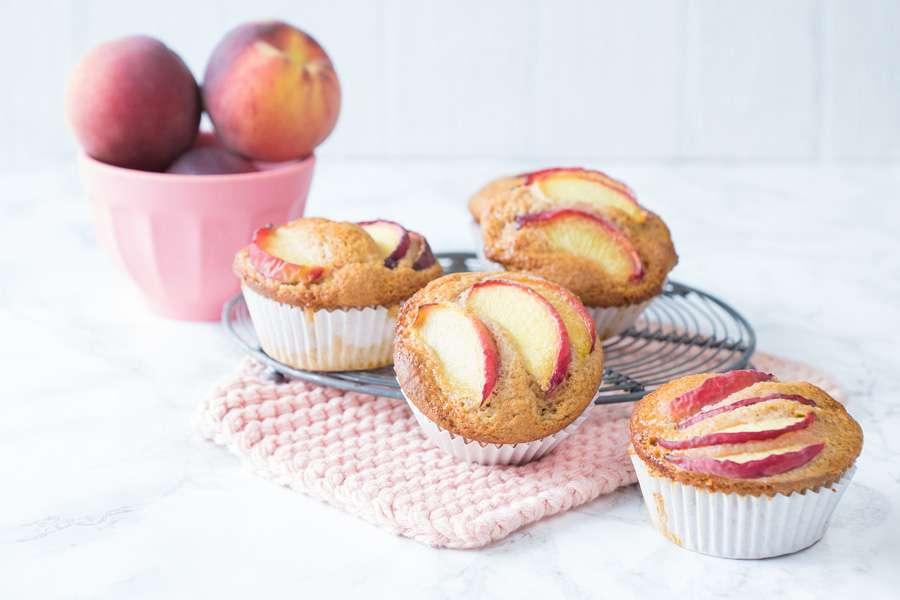 Kokosblüten-Pfirsich-Muffins