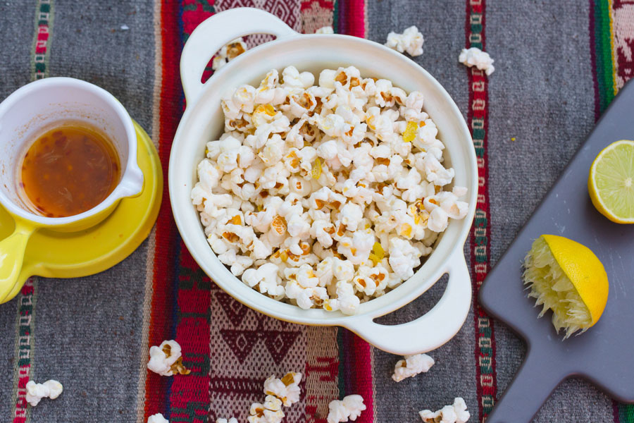 20.10.2017: Popcorn with lime, cayenne and chili flavor