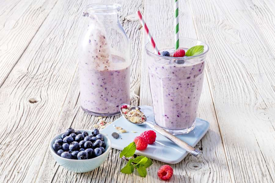 Fruity protein shake