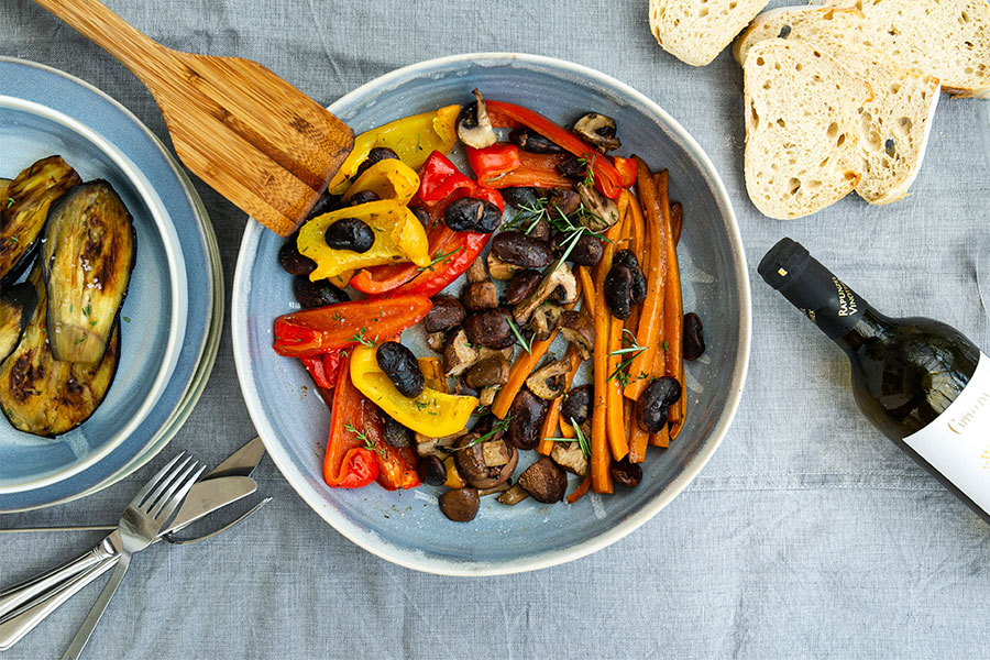 21.08.2020: Grilled vegetable and beans antipasti