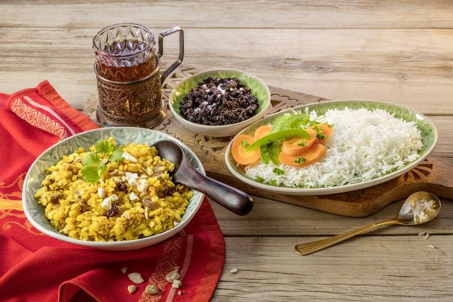 Sanddorn-Curry-Dal