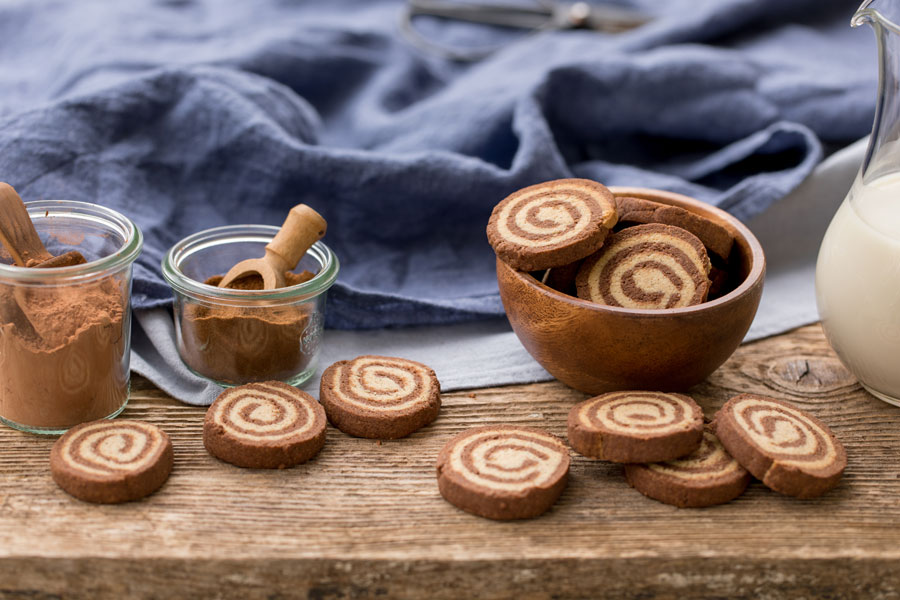 Chocolate Almond Pinwheels with Chicco