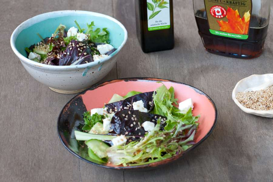 Sesame Salad with Feta Cheese