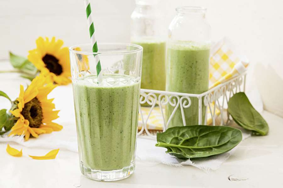 Grüner Power-Spinat-Smoothie