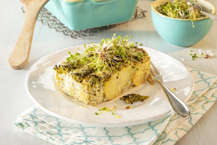 Kartoffel-Auflauf mit Sprossen-Broccoli