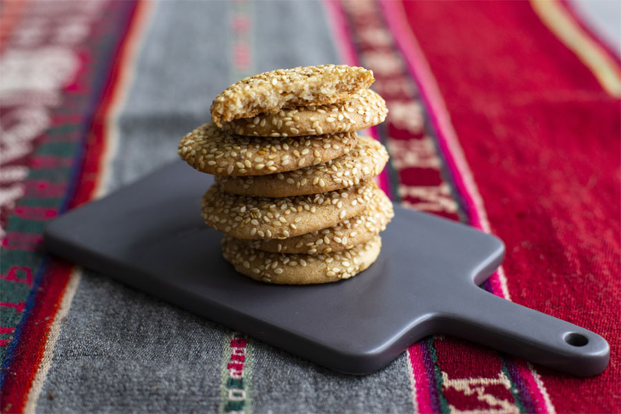 Tahini Cookies with Sesame Seeds