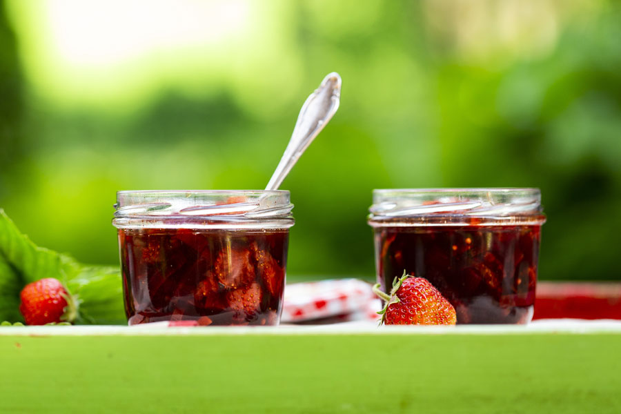 Ayurvedic Tamarind-strawberry- chutney