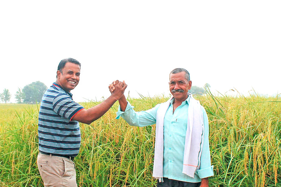 Fair partnership: Tapan Ray and rice farmer Prem Pal