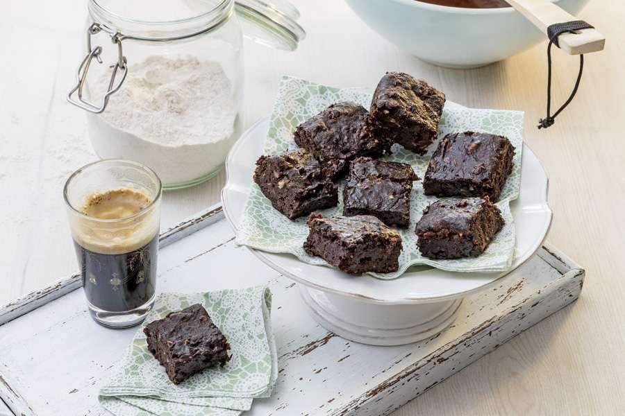 Rote-Linsen-Brownies
