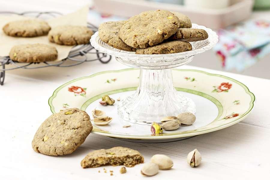 Weiße Schokolade Cookies mit Pistazien