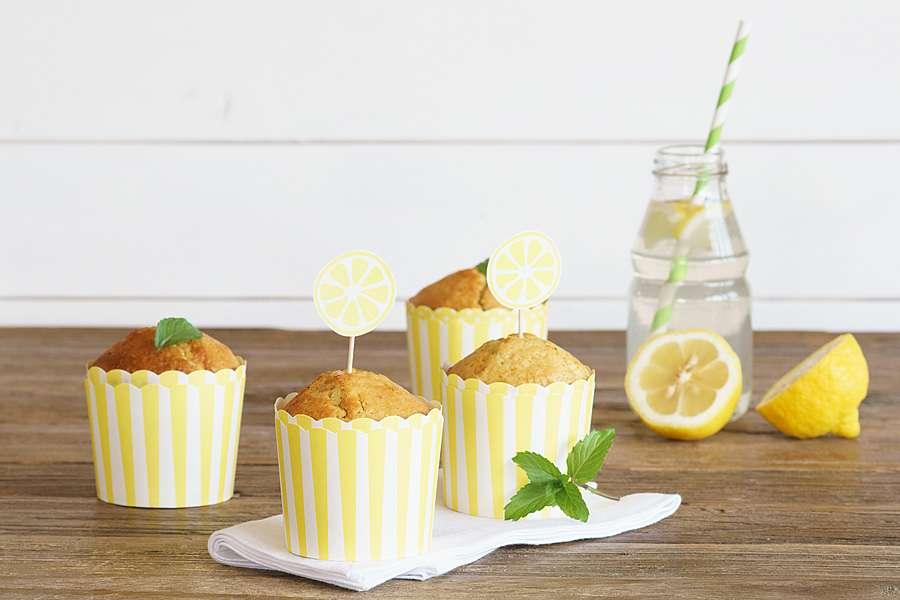 Zitronenmuffins mit Olivenöl