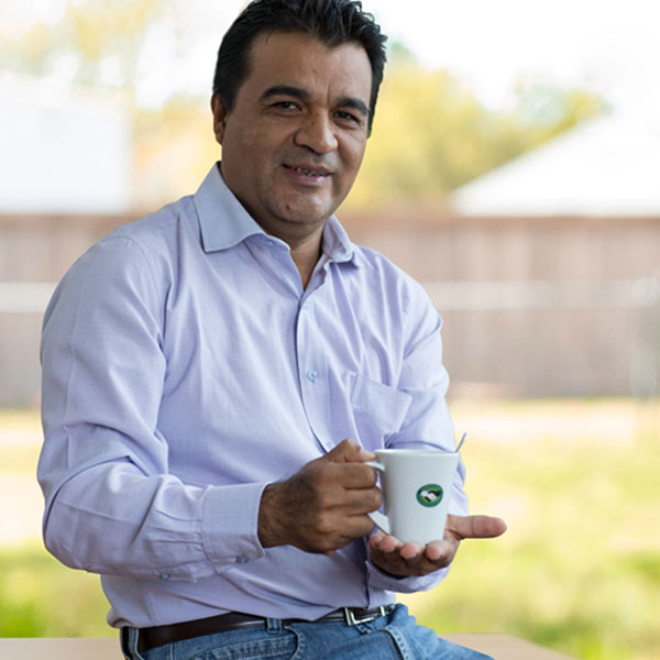 Mr. Santiago Paz López, sales director of Norandino