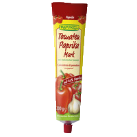 Tomato pepper paste in the tube