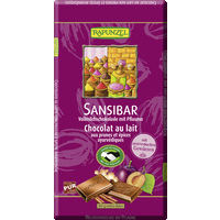 Milk chocolate Sansibar, HAND IN HAND with plums and Ayurvedic spices