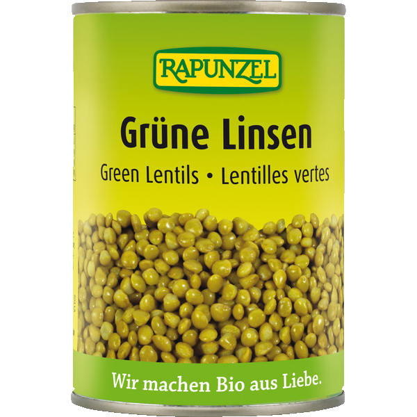 Bio-Product: Green lentils canned - Rapunzel Naturkost