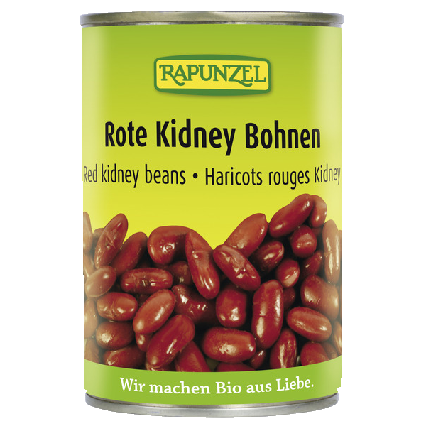 Bio Product Red Kidney Beans Canned Rapunzel Naturkost